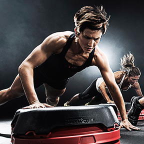People doing a Les Mills GRIT workout