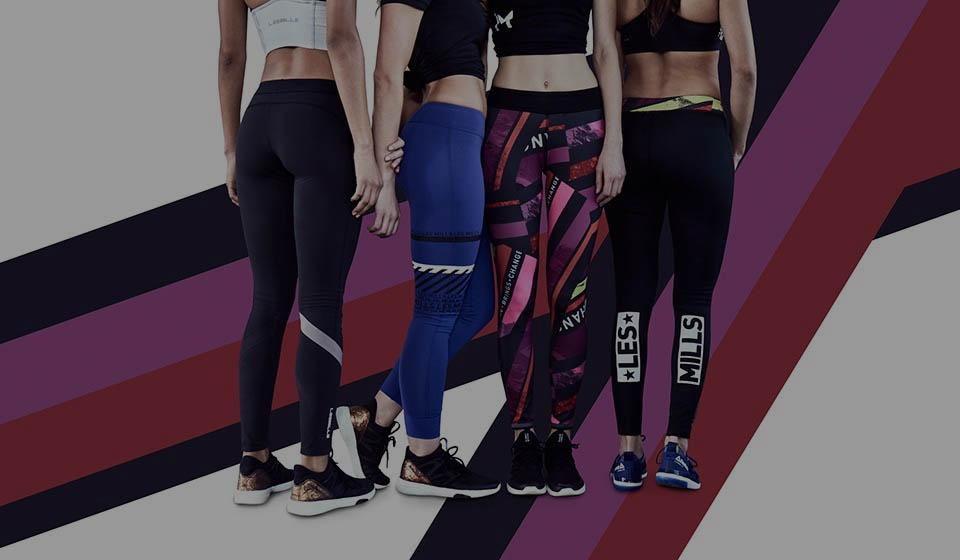 Les Mills + Reebok clothing banner