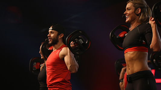 Emma debuts as a BODYPUMP presenter