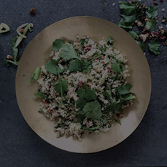 cauliflower and cous cous salad