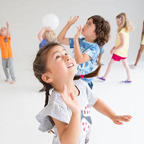 Children doing a fitness workout