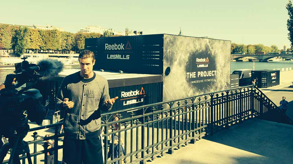 Les Mills Jnr at 'The Project' in Paris
