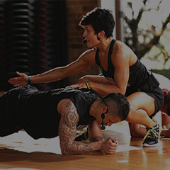 Les Mills GRIT Instructor coaching hovers