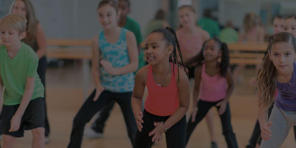 girl in dance class