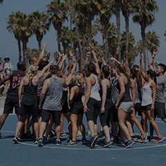 LES MILLS GRIT™ Filming in LA - Group Huddle