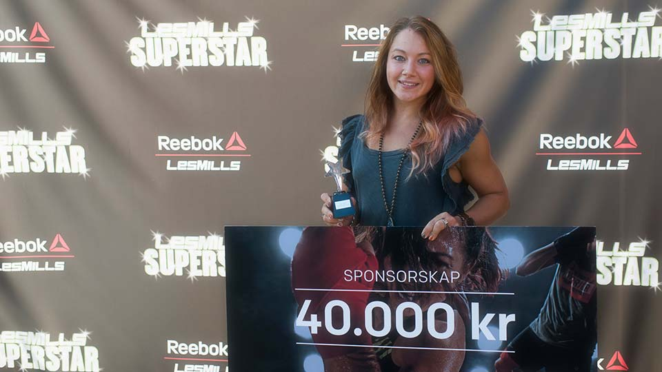 Les Mills Superstar Sweden winner Hanna Lundh