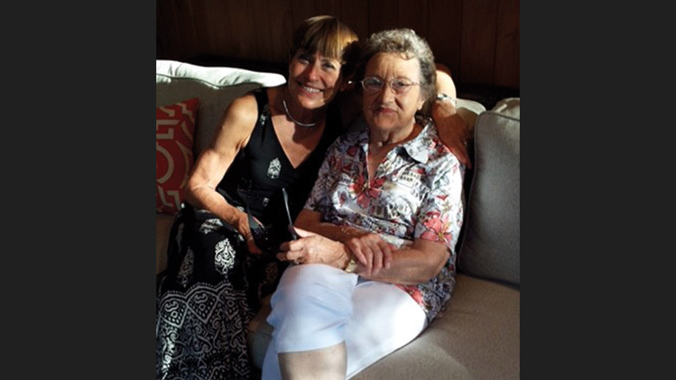 Debby Copeletti and her mom, Evelyn Catlin.