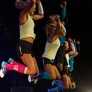 Les Mills instructors teaching BODYATTACK™