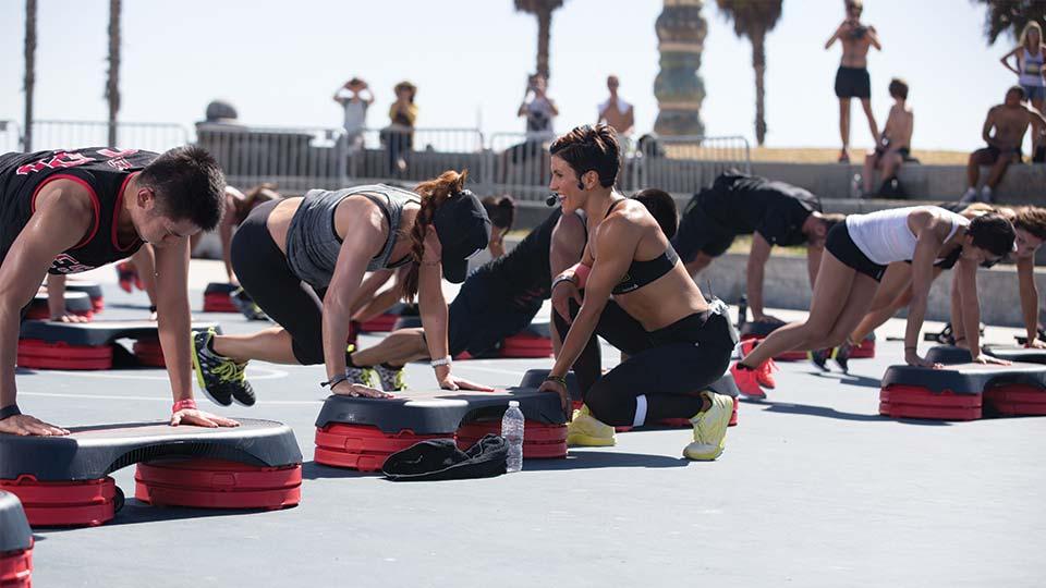 A Les Mills fitness workout Venice Beach