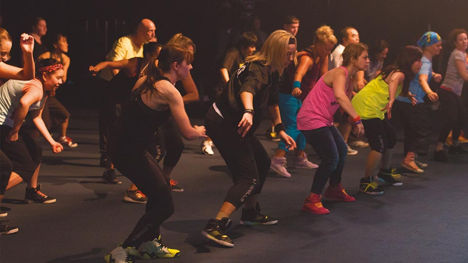 BODYJAM™ participants doing a workout