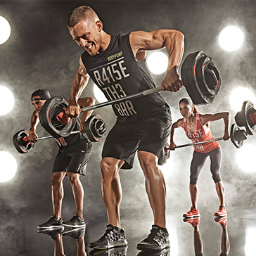Reebok Les Mills weight lifting