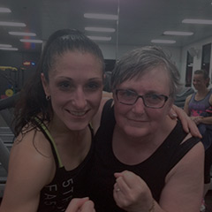 Les Mills Fit Hero Jane Mallard with Debra Gilbert
