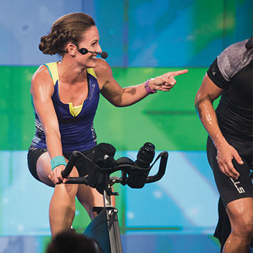 Les Mills Instructor Teaching RPM Class