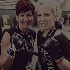 Les Mills Fit Hero Kim Kelley with Chelsea Manak