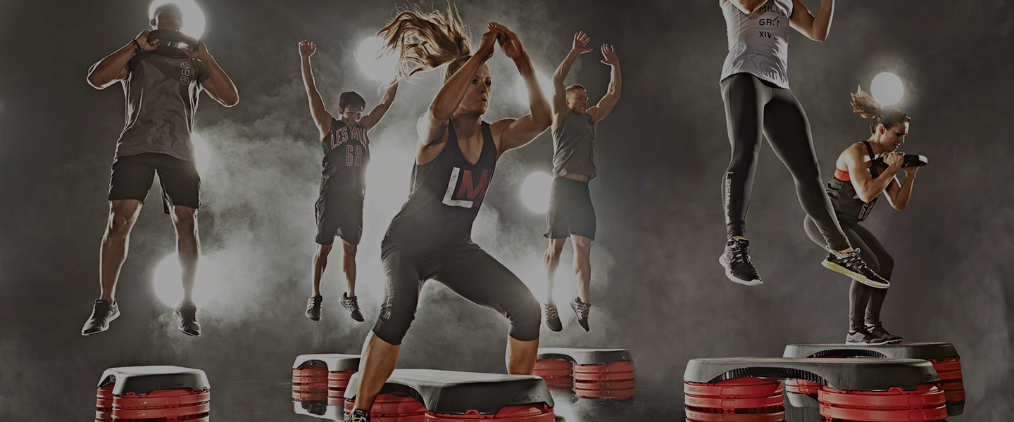 A Les Mills Grit™ class in action