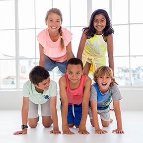 Children doing an exercise class