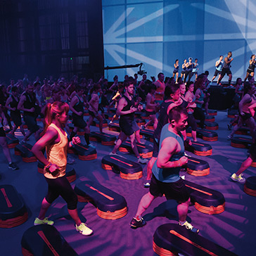 Les Mills Bodystep fitness class