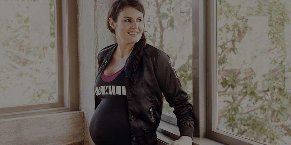 Pregnant lady posing