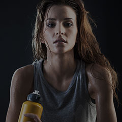 Les Mills fitness workout drink water