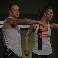 Les Mills Bodycombat instructors during workout