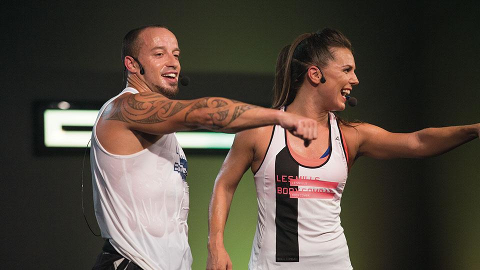 two les mills bodycombat instructors