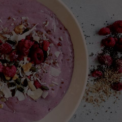 protein smoothie in a bowl