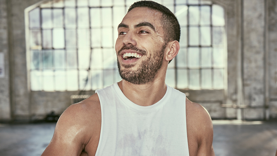 a person smiling after a fitness class